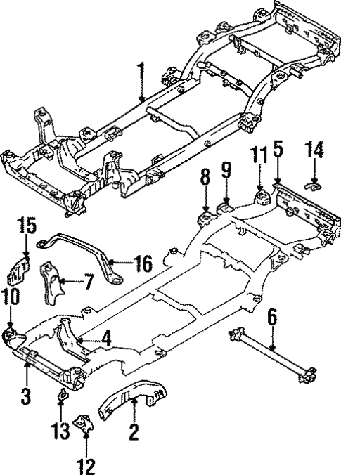 Frame Components For 1997 Suzuki Sidekick