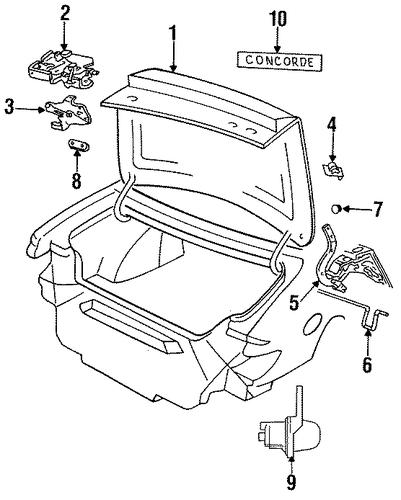trunk for 1993 chrysler concorde parts