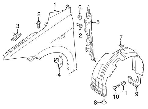 Elantra Bodyfender Components Parts
