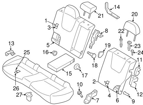 Rear Seat Components For 2012 Subaru Impreza