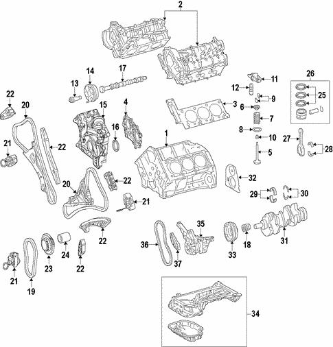 [SCHEMATICS_4US]  Engine for 2013 Mercedes-Benz GLK 350 | Mercedes Parts Center | Glk 350 Engine Diagram |  | Mercedes Parts Center
