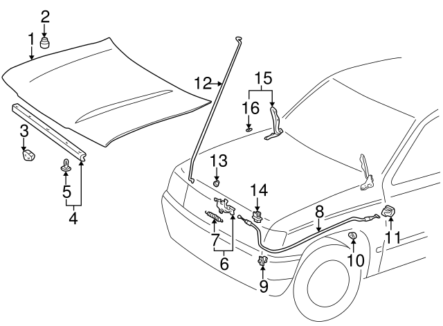 1990 2019 Toyota Release Cable Clip 90467 11061