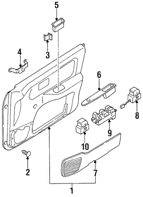 Rear Door For 1998 Nissan Sentra