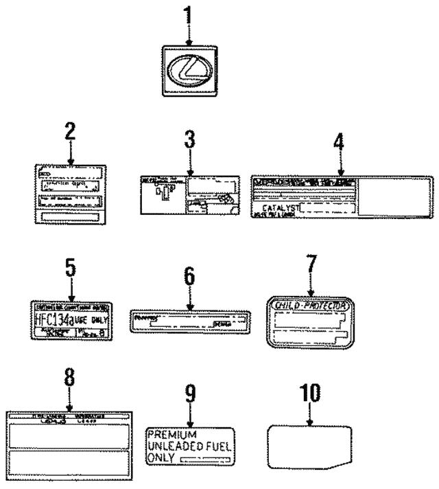 vacuum diagram - lexus (17792-50100)