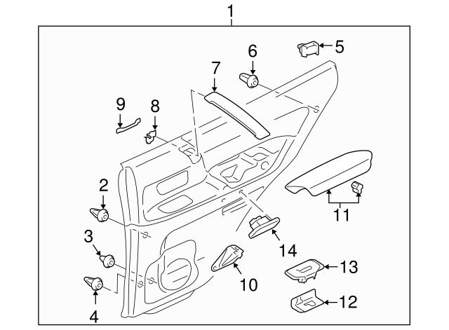 Mitsubishi Door Trim Panel Grommet Ms480010