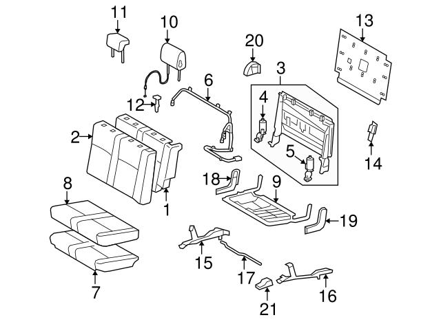 2005 2019 Toyota Headrest Guide 71930 52030 B4