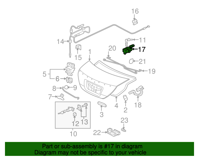 Opener Assembly, Trunk & Fuel Lid*NH598L* (Atlas Gray)