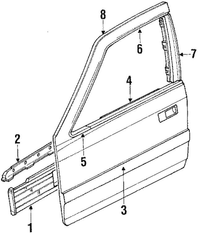 1986-1988 Acura LEGEND SEDAN Molding Assembly, L Front