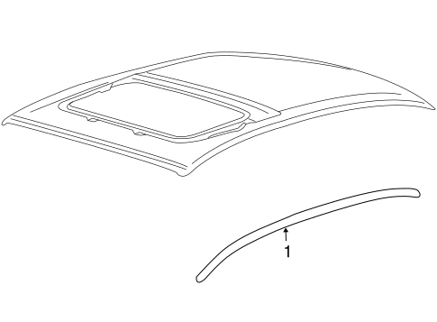 Body/Exterior Trim - Roof for 2013 Ford Taurus #1