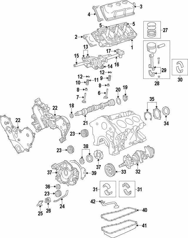 1999 2011 Mopar Piston Ring Set 4897035ab