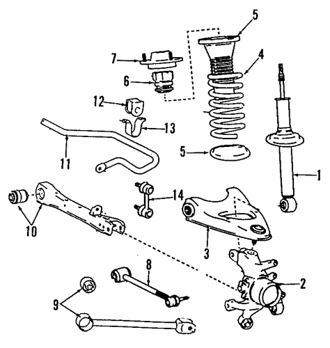 rear suspension for 1996 lexus ls400