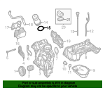 Oil Filter Housing Seal - Mercedes-Benz (020-997-54-45)
