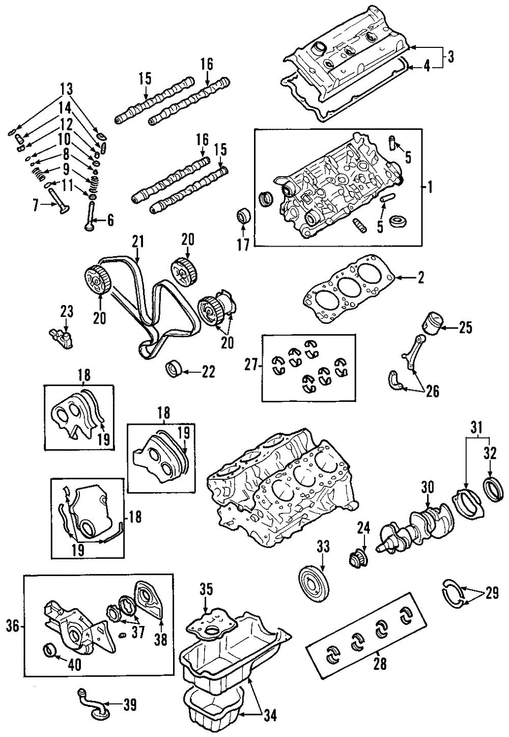 Engines & Engine Parts Engine Parts Kia 21360-39800 Engine ... on bmw z3 engine timing diagram, kia sorento engine schematic, kia sorento timing chain diagram,