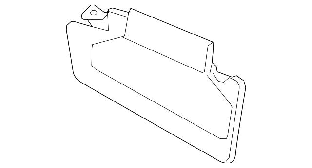TOYOTA Genuine 74310-0C020-E0 Visor Assembly