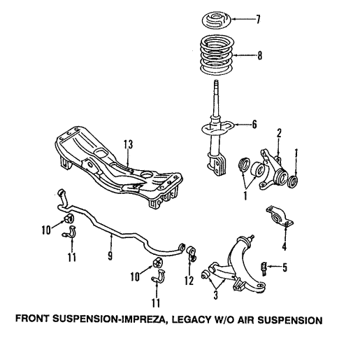 Suspension Components for 2004 Subaru Forester #1