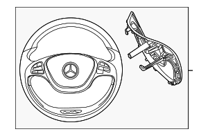 Steering Wheel - Mercedes-Benz (000-460-39-04-9E38)
