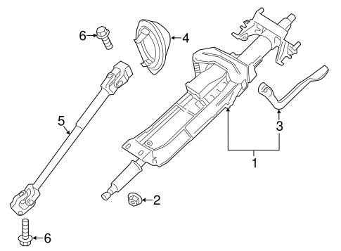 Steering Column Assembly for 2014 BMW 320i #0