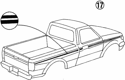 Body/Stripe Tape for 1997 Ford Ranger #4