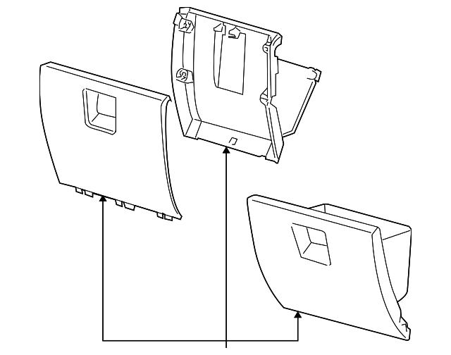 Glove Box Assembly Mopar 1dd131daaa Mymoparparts