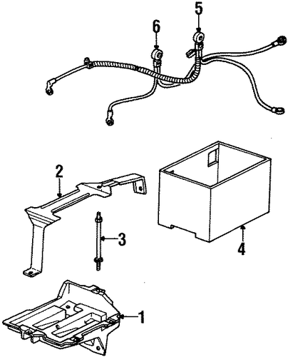 oem 2002 saturn sc1 battery parts