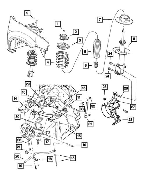 [DIAGRAM_5FD]  Front Suspension for 2005 Dodge Neon | Thomas Dodge Parts | 2005 Dodge Neon Engine Parts Diagram |  | Thomas Dodge Parts
