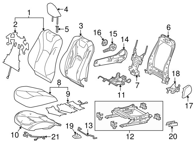 TOYOTA Genuine 71078-52J20-C2 Seat Back Cover