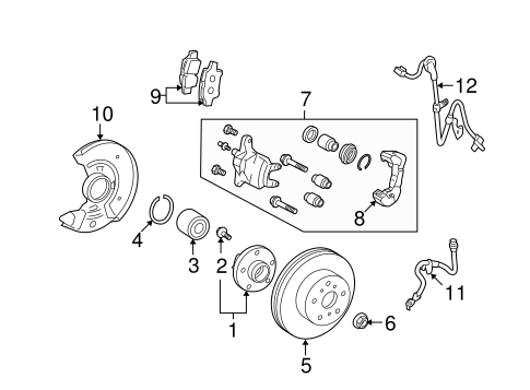 BRAKES/BRAKE COMPONENTS for 2013 Scion xD #2