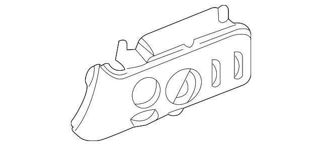 Genuine Mopar Headlamp Switch Zl661j8ah
