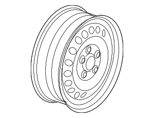 Wheel, Steel - Volkswagen (3C0-601-027-BE-03C)