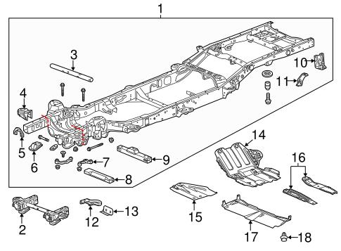 Frame & Components 2014 Chevrolet Silverado 1500 OEM – New GM Parts ...