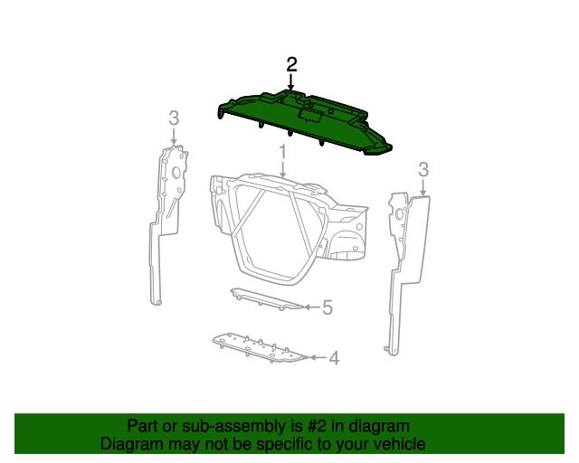 Genuine Ford Radiator Air Deflector Top Cover OE 4C3Z8327BA