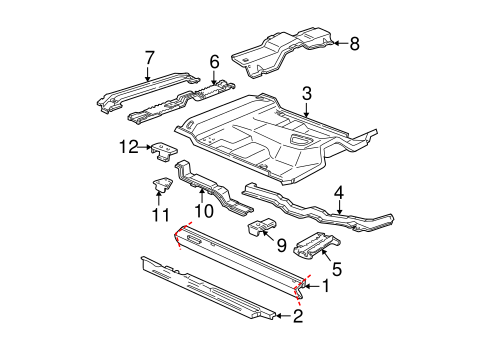 Body/Rocker for 2005 Ford Ranger #1