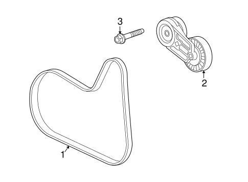 Oem 2013 Chevrolet Equinox Belts Pulleys Parts