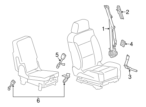 OEM Front Seat Belts for 2016 Chevrolet Silverado 2500 HD