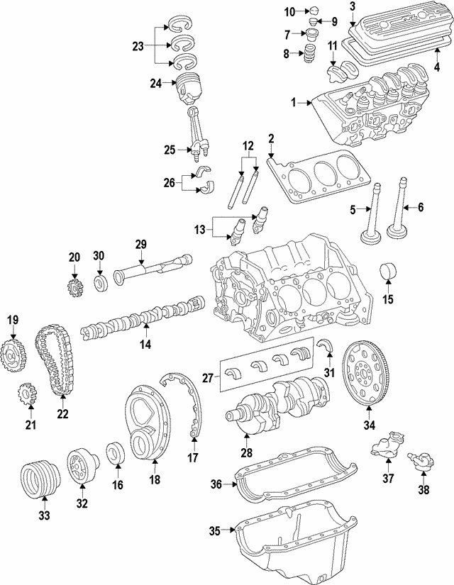 4 3 Vortec Balance Shaft Diagram