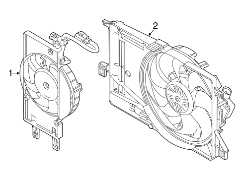 Cooling System/Cooling Fan for 2015 Ford Focus #1