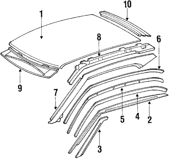 Side Rail - Mercedes-Benz (124-637-17-09)