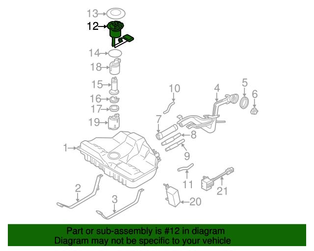 2002-2003 Nissan Maxima Fuel Tank Level Sensor Sending Unit OEM NEW