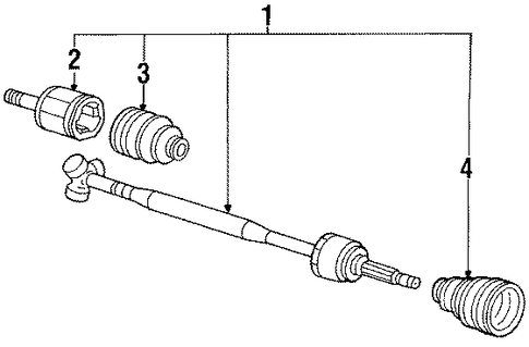 Drive Shaft Assembly, L