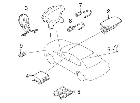 Air Bag Components For 2003 Mitsubishi Outlander Xls