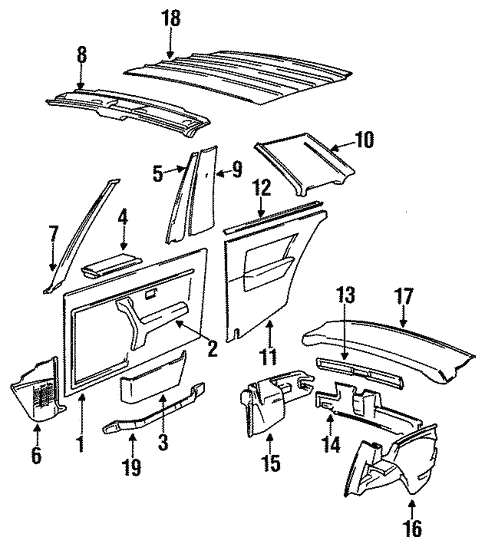 Interior Trim for 1985 BMW 318i #1