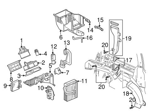 evaporator  u0026 heater components for 2004 pontiac montana