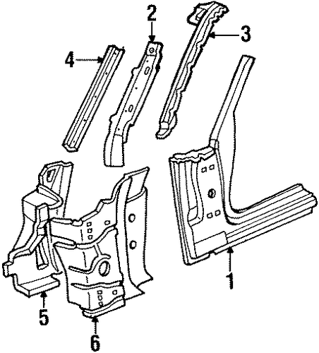 Hinge Pillar For 1993 Ford Crown Victoria