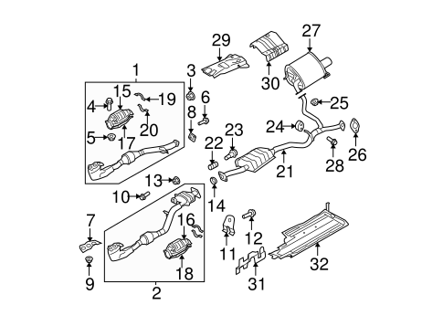 Fabulous Exhaust Components For 2006 Subaru Outback Subaru Parts Store Wiring Cloud Rectuggs Outletorg