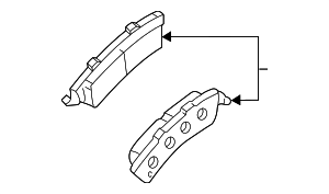 Disc Brake Pad Set - GM (89027019)
