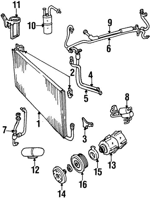 Condenser Compressor Lines For 2002 Lincoln Continental