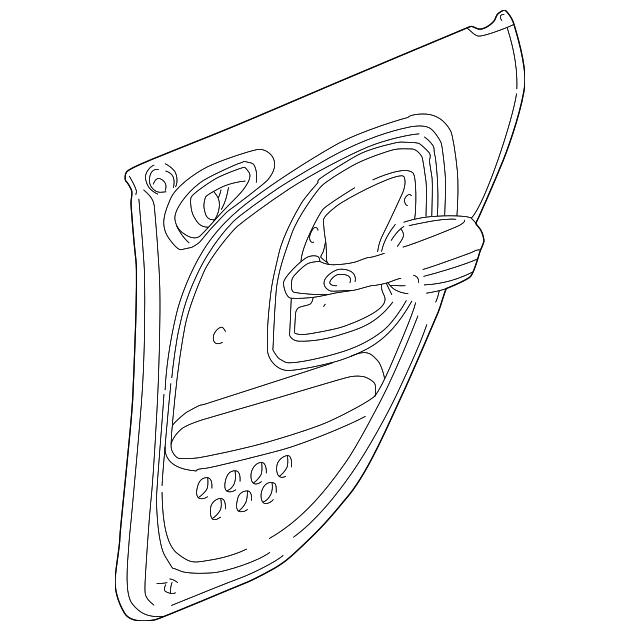 2001 chrysler pt cruiser door trim panel rj901flab