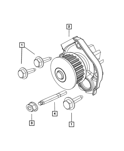 Water Pump and Related Parts for 2015 Jeep Renegade #0