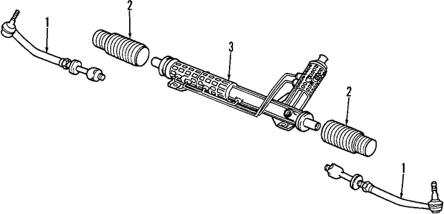 Steering Gear - BMW (32-13-6-757-877)