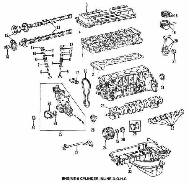 1993-1997 Toyota Land Cruiser Bearings 13041-66031-04   Sparks Parts   1997 Toyota Land Cruiser Engine Diagram      Sparks Parts